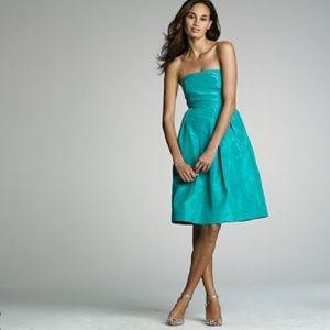 J. Crew Lorelei Dress Silk Taffeta Tropical Aqua